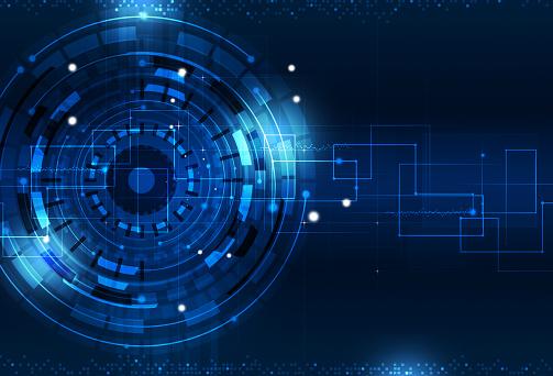 Digital Technology Blue Background