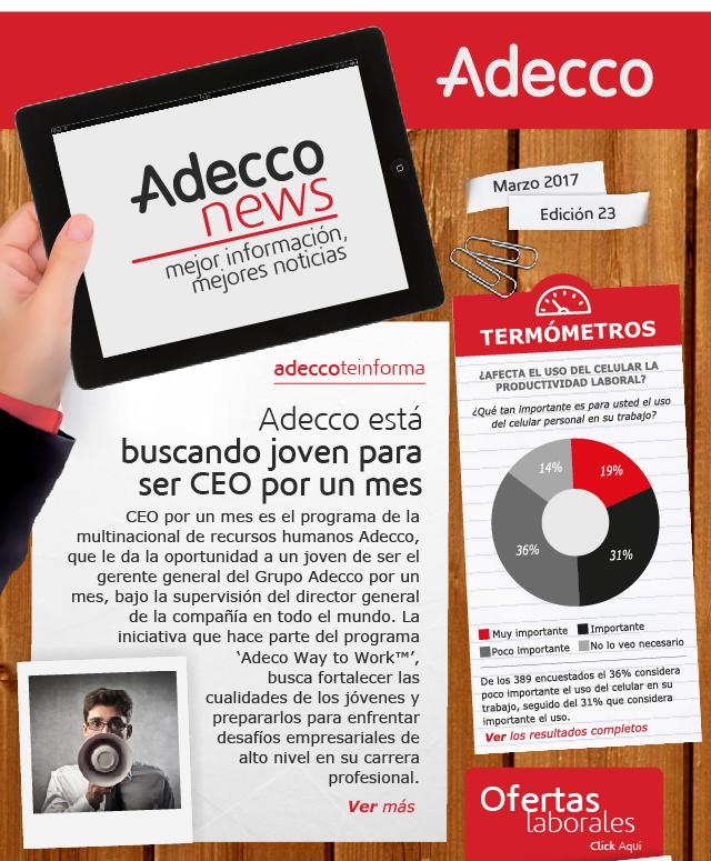 Adecco está buscando joven para ser CEO por un mes