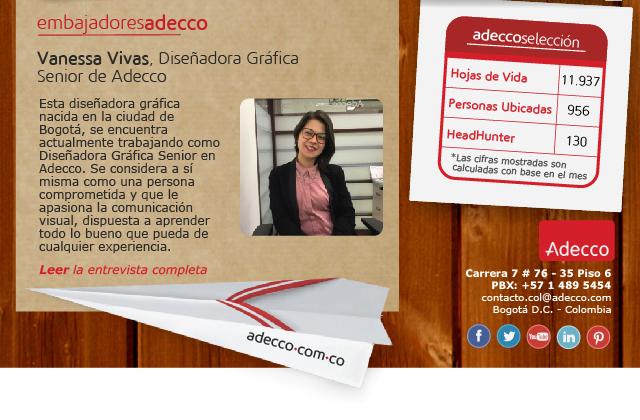 Vanessa Vivas, Diseñadora Gráfica Senior de Adecco