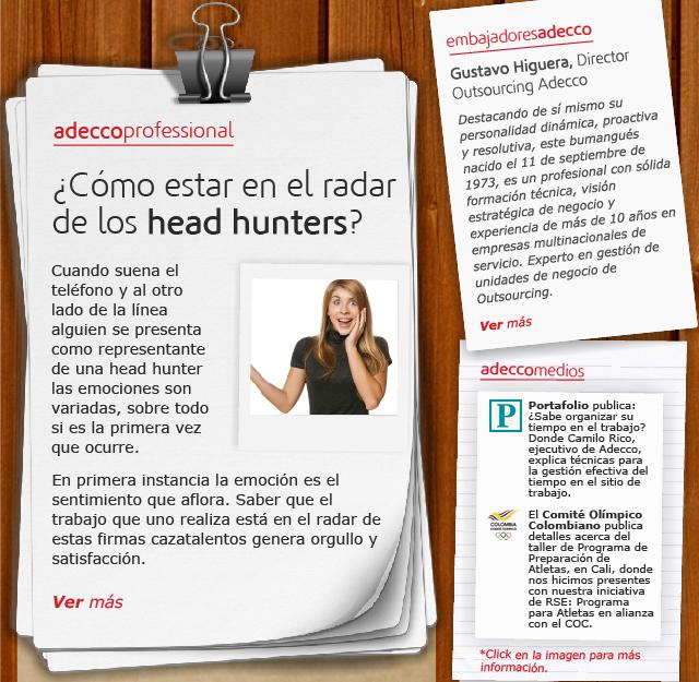 ¿Cómo estar en el radar de los head hunters?
