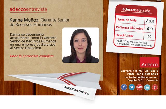 Karina Muñoz, Gerente Senior de Recursos Humanos