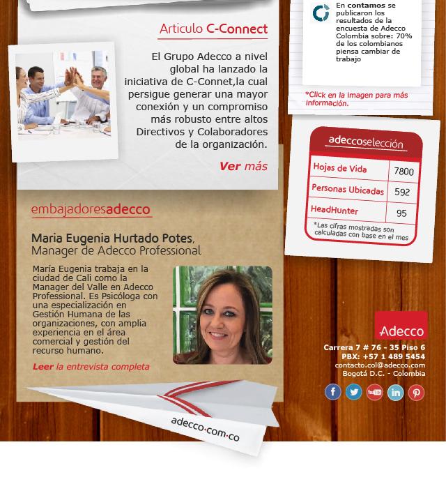 Maria Eugenia Hurtado Potes, Manager de Adecco Professional